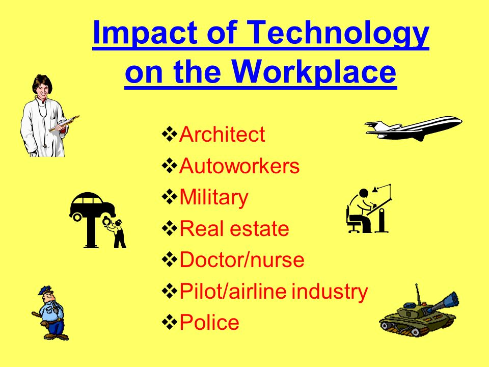 Impact of Technology on the Workplace
