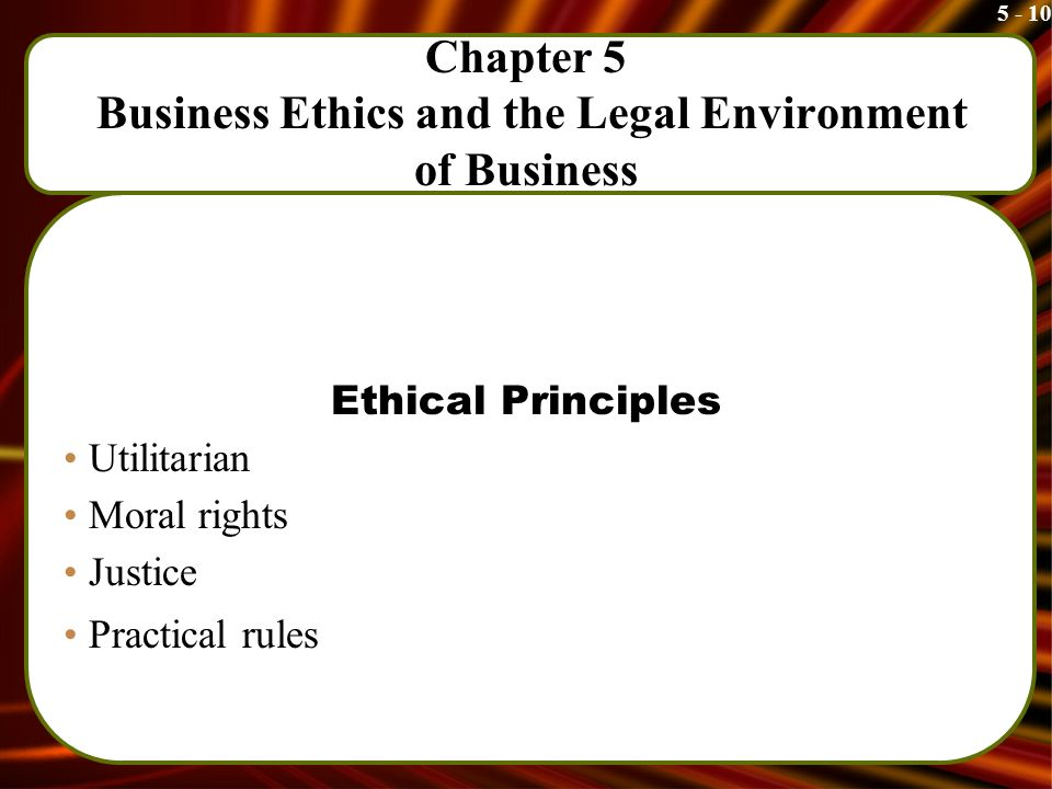 Business ethics and rules