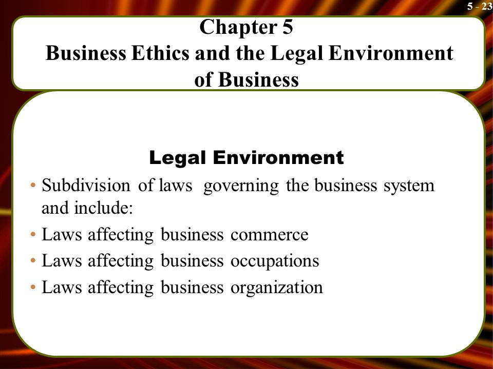 the legal structure of business environments Free essay: chapter three the political and legal environments facing business objectives • to discuss the different goals and functions of political systems.