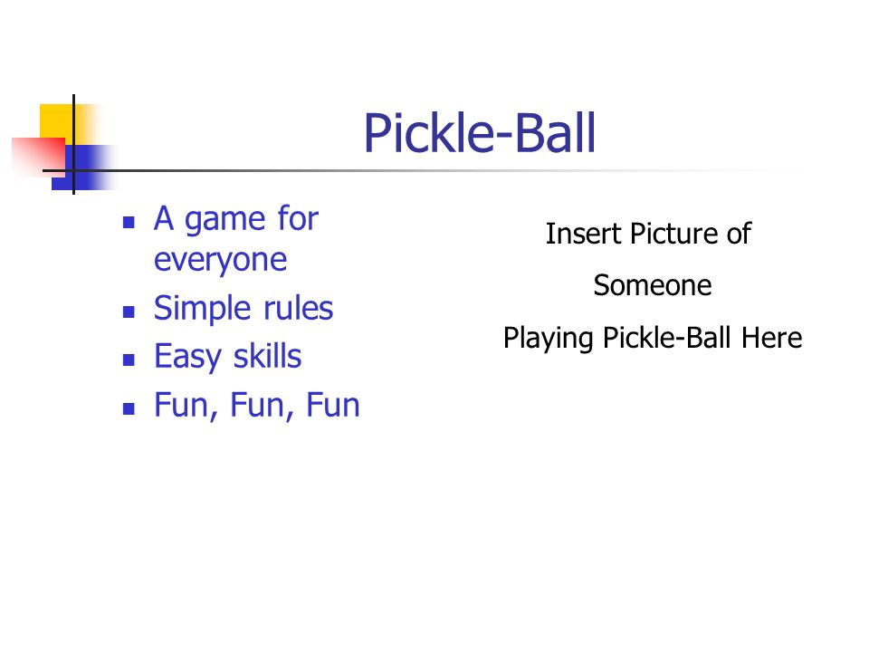 Playing Pickle-Ball Here