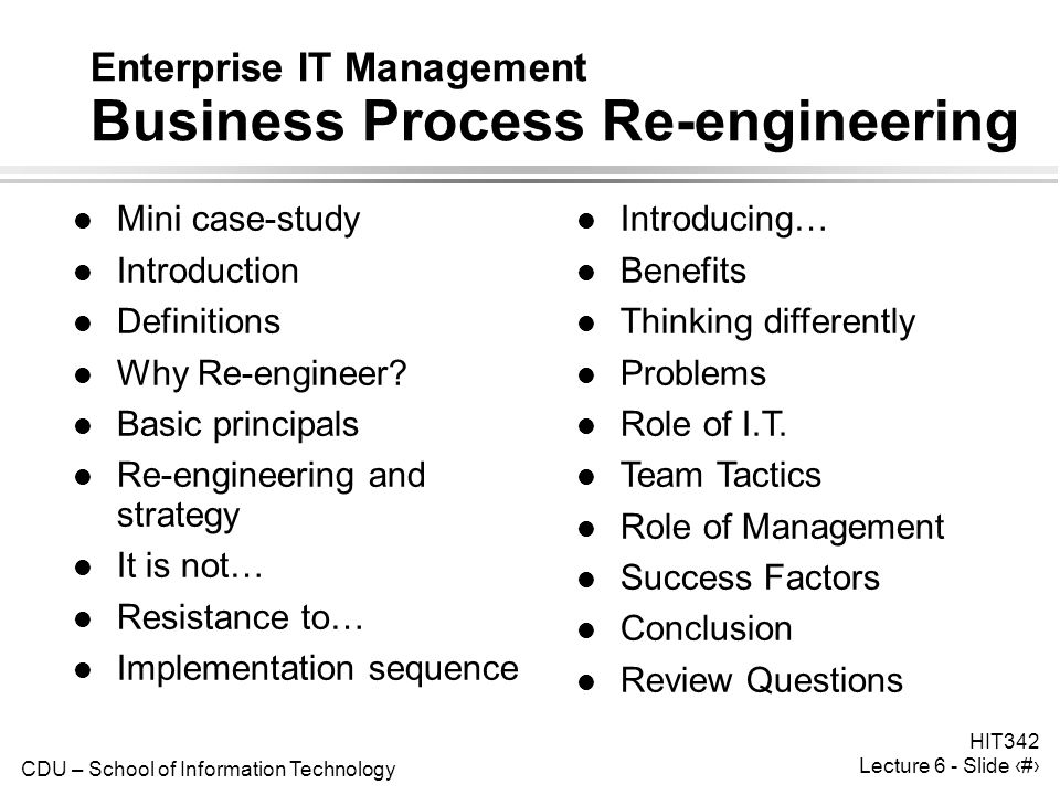 business process re engineering essay The complementary role of business process reengineering and  cole, r (1994) reengineering the corporation: a review essay  re-engineering business.
