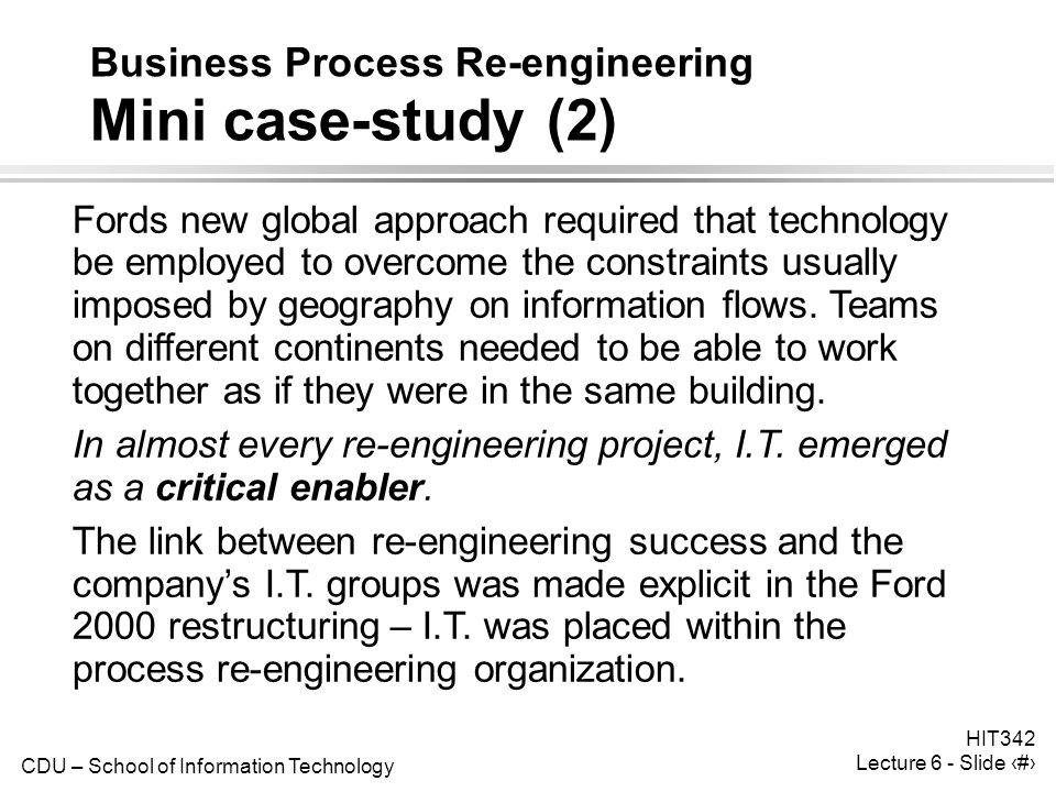 Business Process Reengineering Examples – Understand and Learn from them