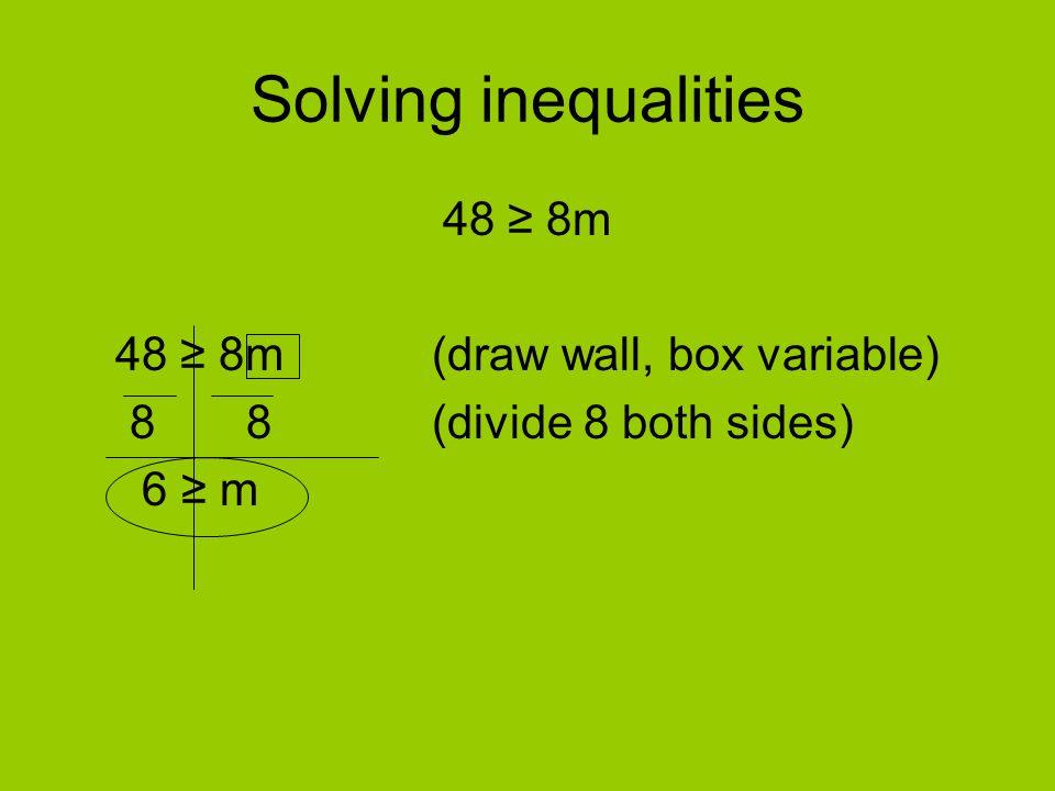 48 ≥ 8m (draw wall, box variable)