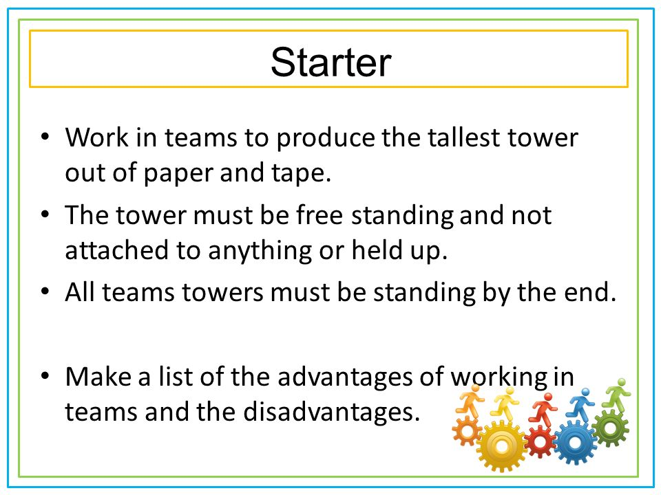 What are the disadvantages of working in teams?