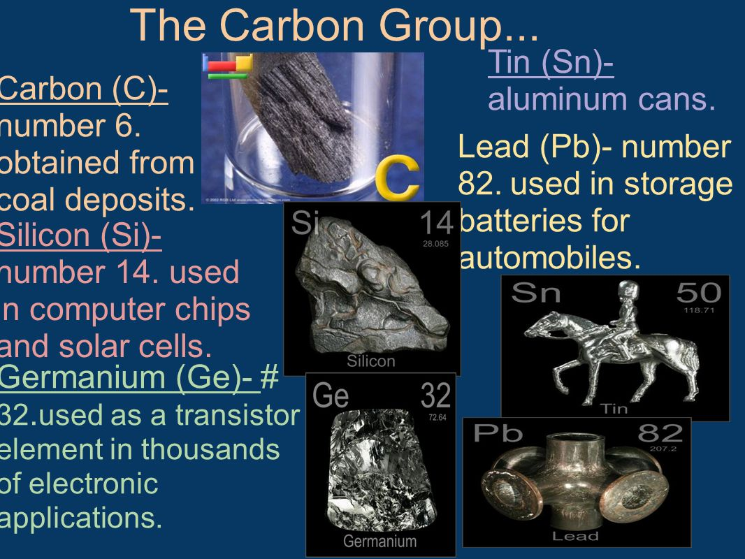 Carbon (C)- number 6. obtained from coal deposits.