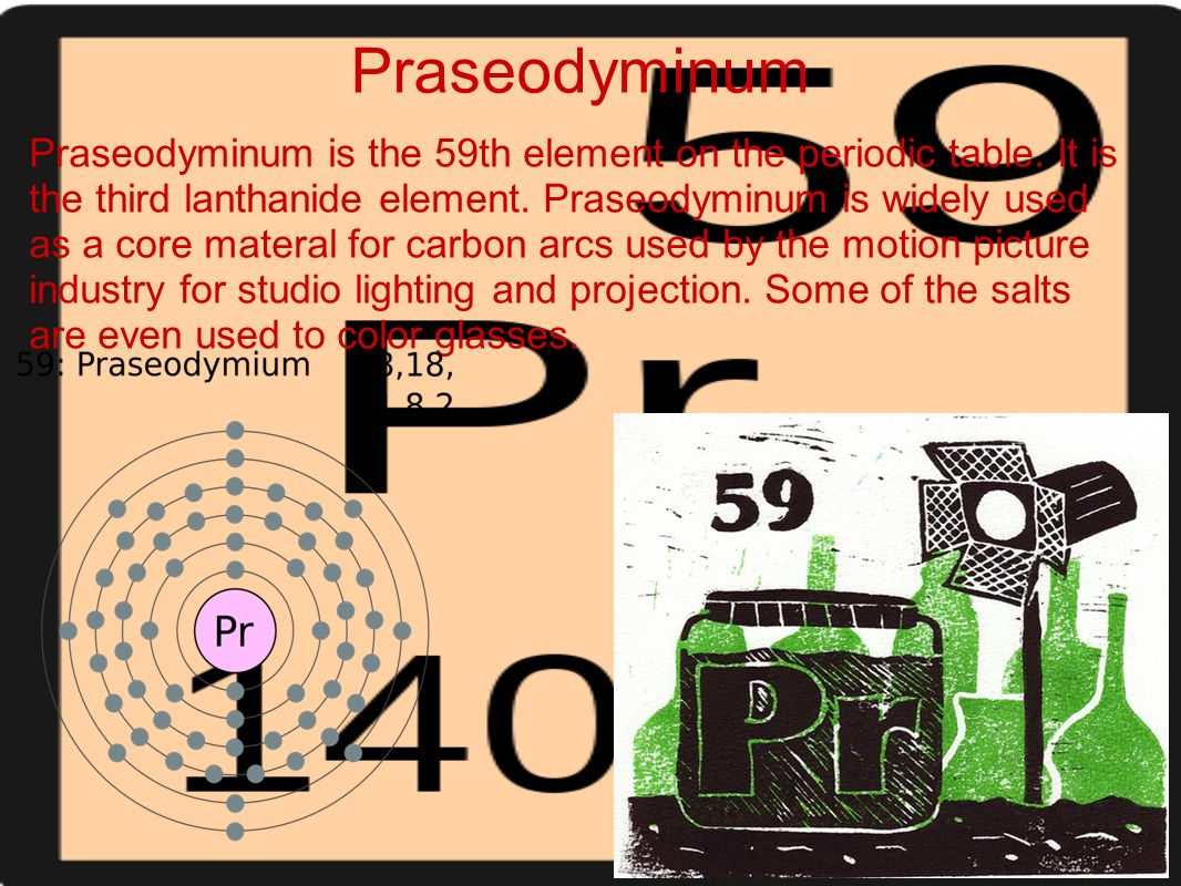 The periodic table of elements becka and jess style ppt 50 praseodyminum praseodyminum is the 59th element on the periodic table gamestrikefo Choice Image