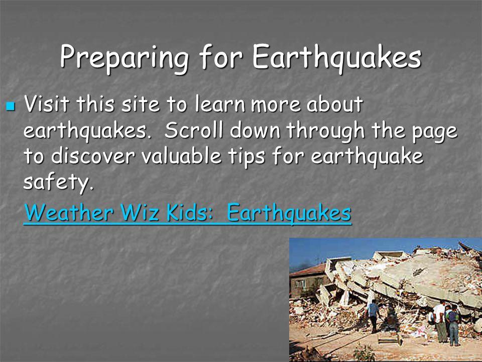Preparing for Earthquakes