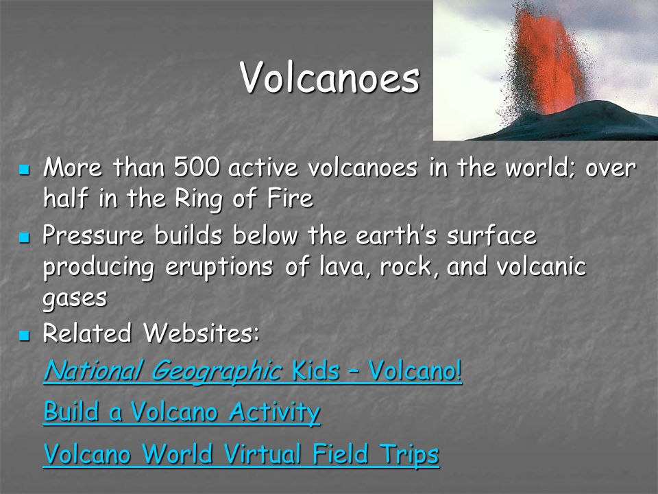 Volcanoes Volcano World Virtual Field Trips