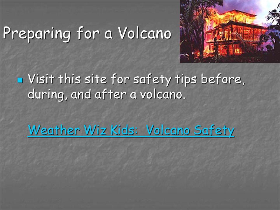 Preparing for a Volcano
