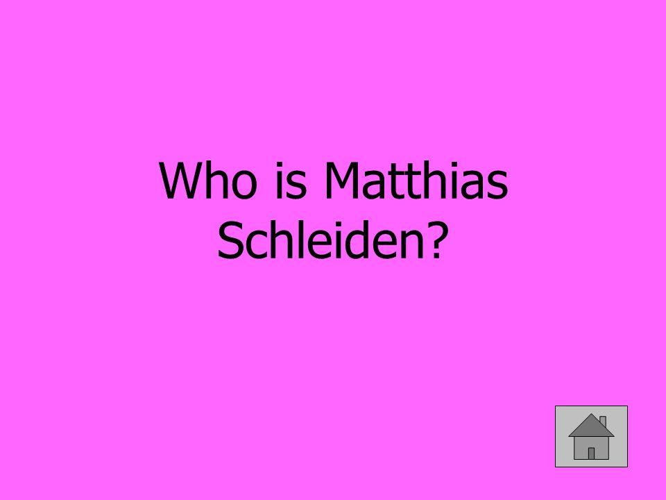 Who is Matthias Schleiden
