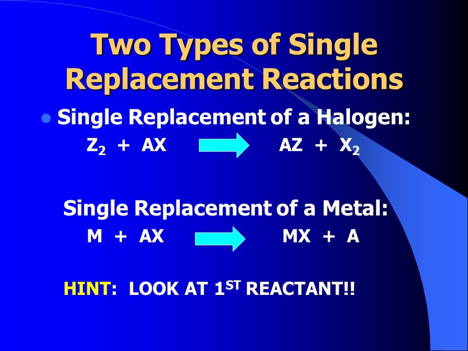Two Types of Single Replacement Reactions