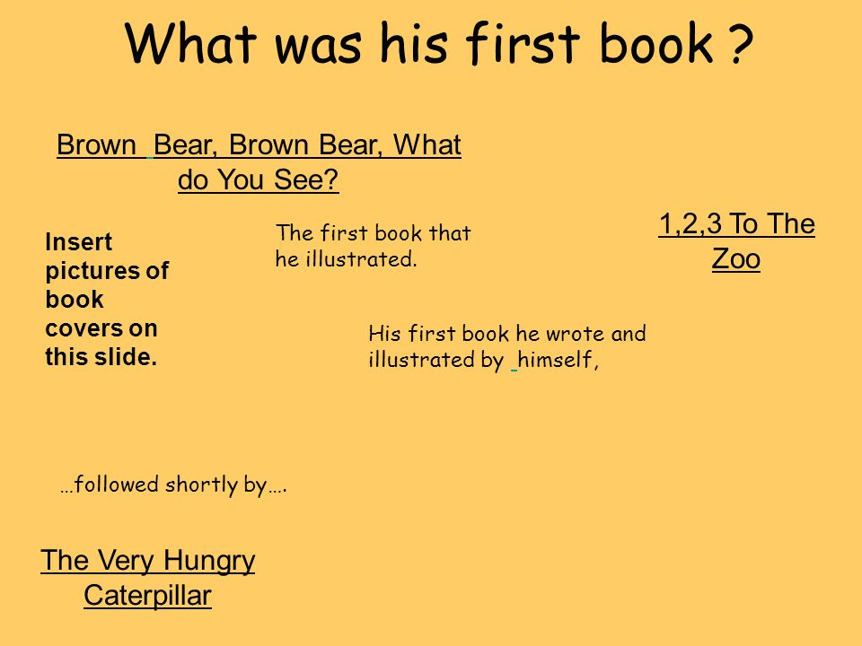 What was his first book Brown Bear, Brown Bear, What do You See