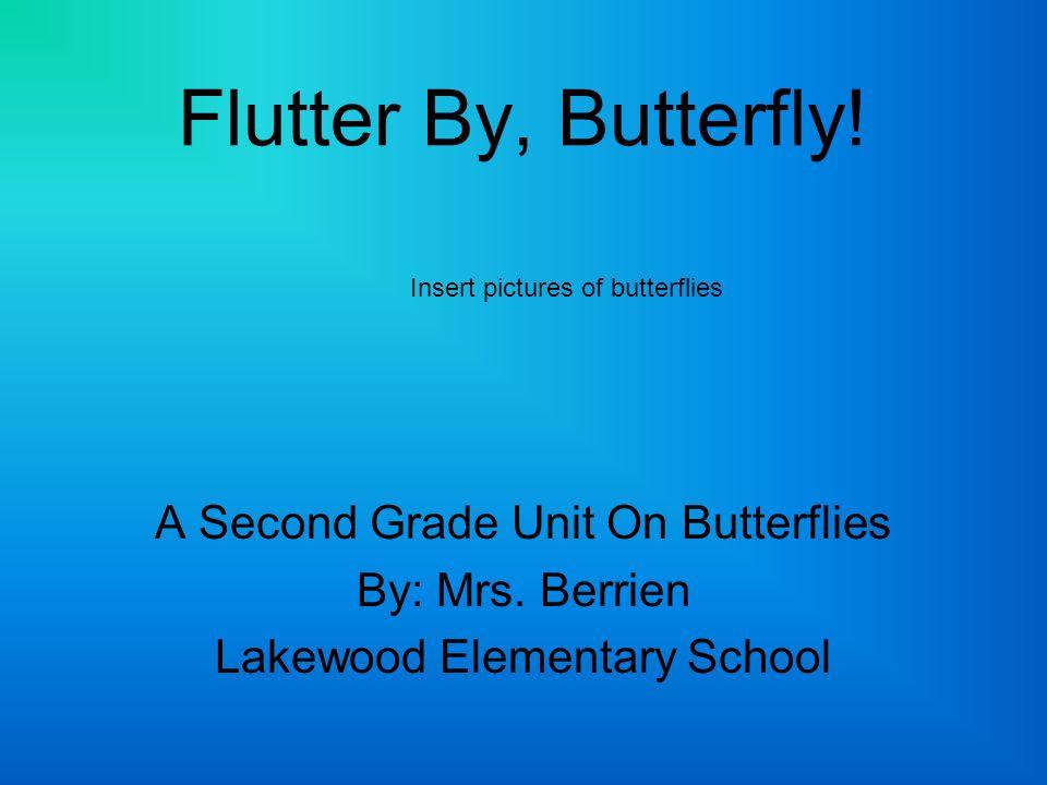 Flutter By, Butterfly! A Second Grade Unit On Butterflies