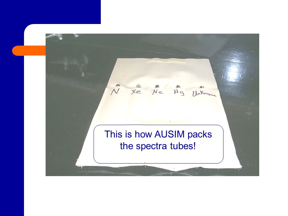 This is how AUSIM packs the spectra tubes!