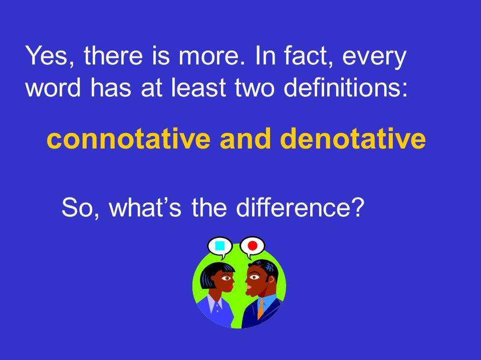 connotative and denotative