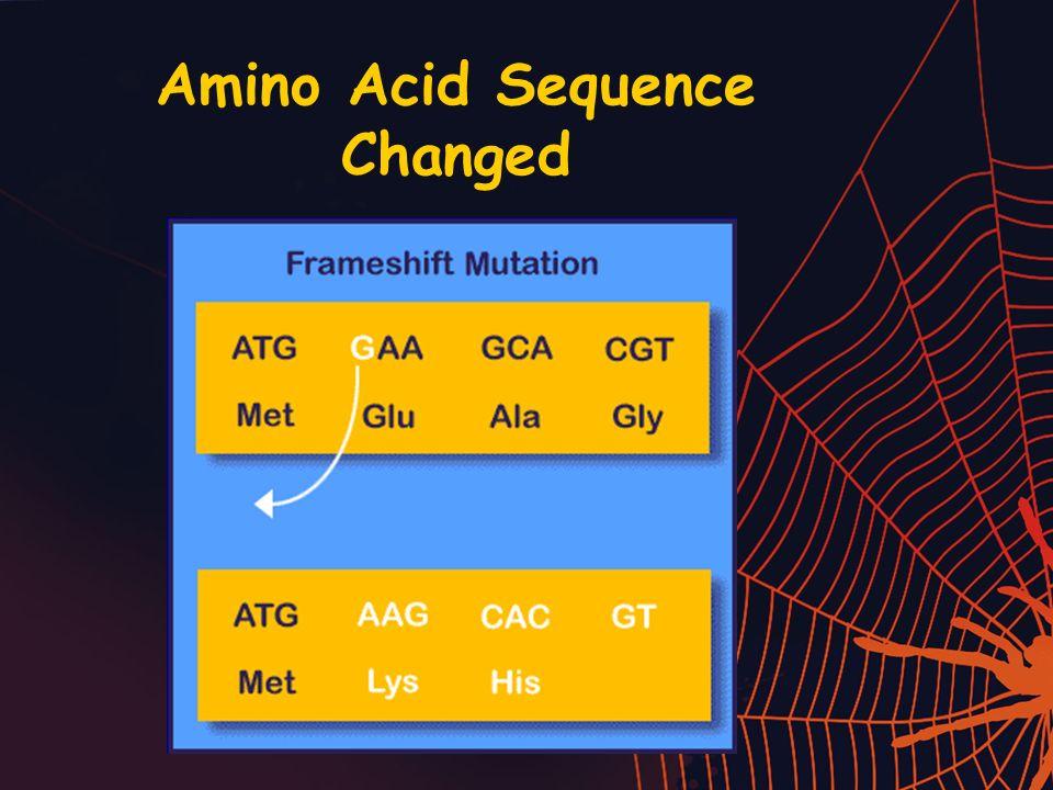 Amino Acid Sequence Changed
