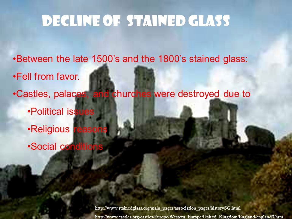 Decline of Stained Glass