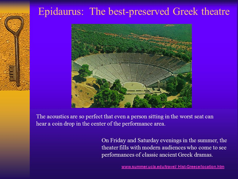 Epidaurus: The best-preserved Greek theatre