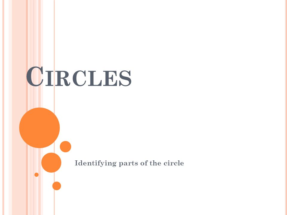 Identifying parts of the circle