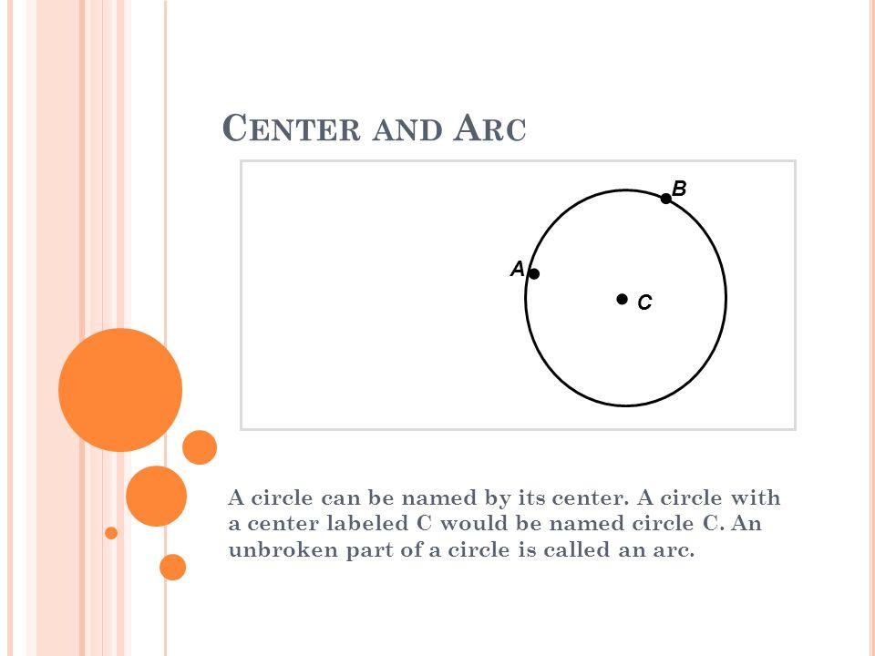 Center and Arc B. C. — A.