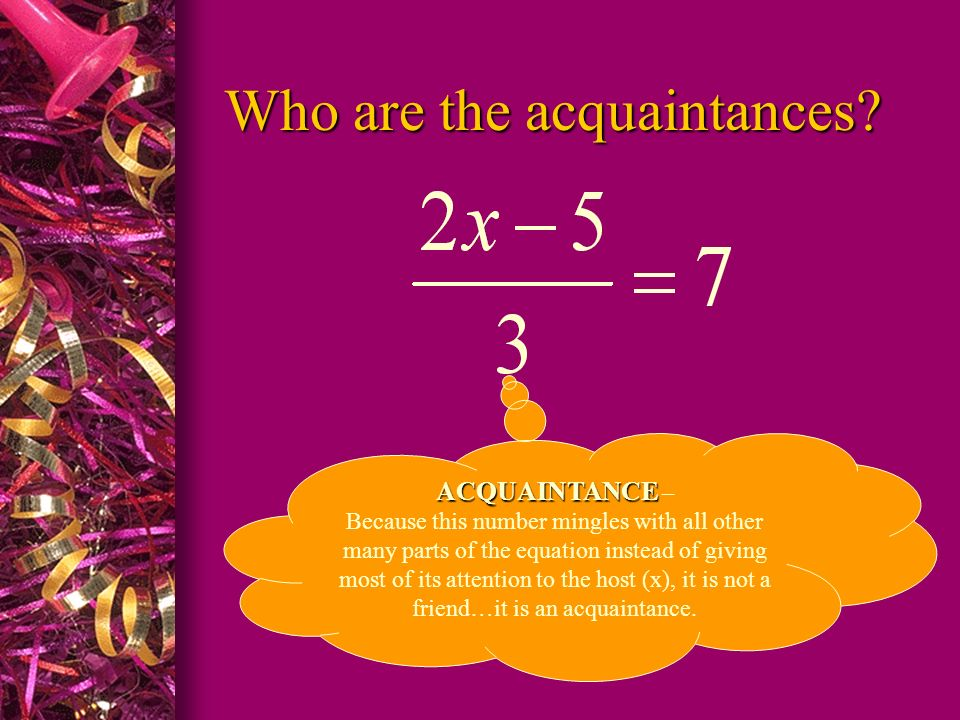 Who are the acquaintances
