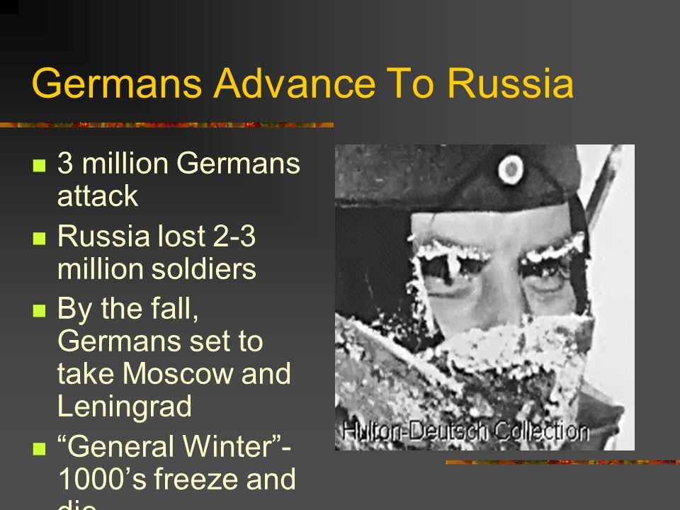 Germans Advance To Russia