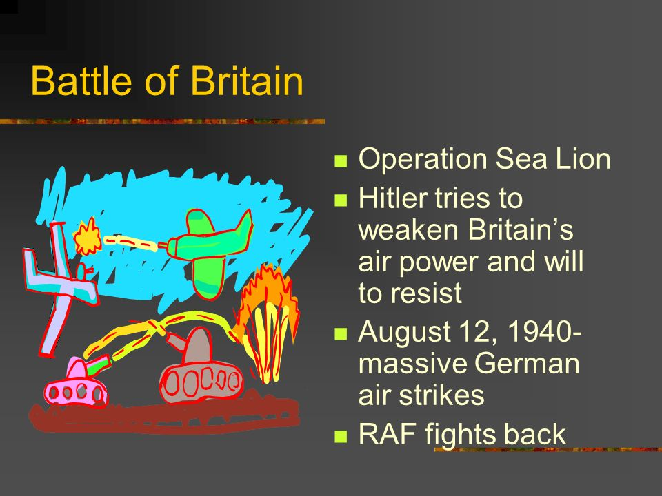 Battle of Britain Operation Sea Lion