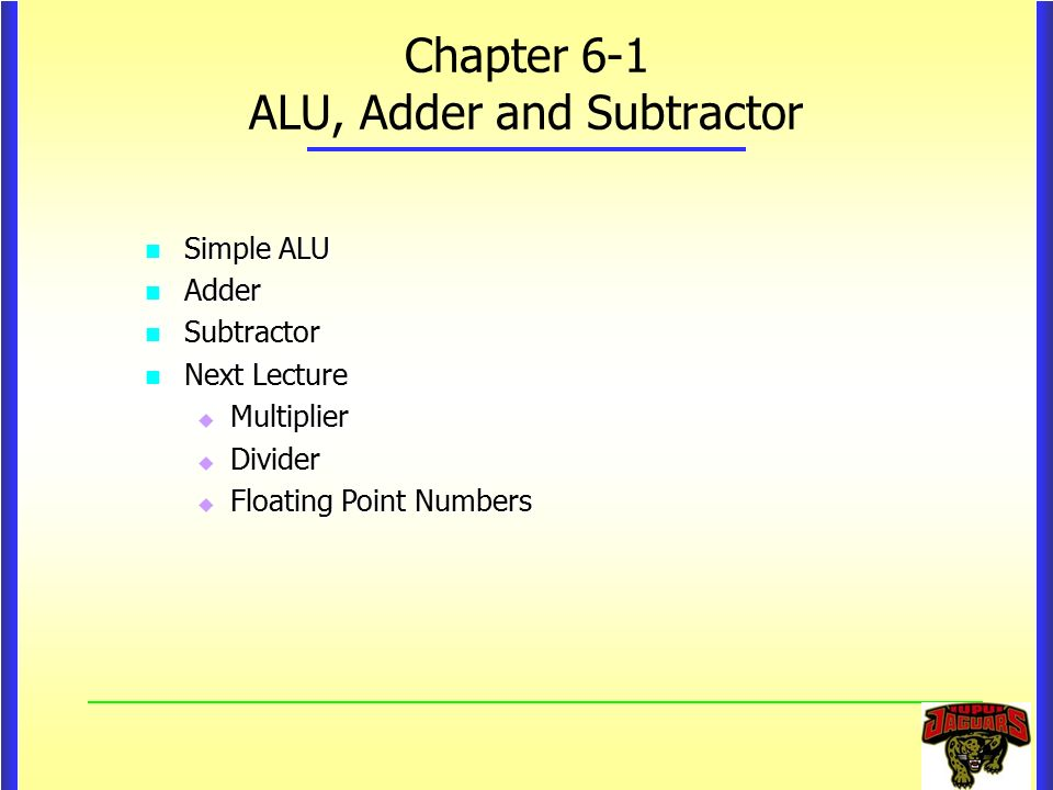 Chapter 6 1 alu adder and subtractor ppt video online for 1 bit alu truth table