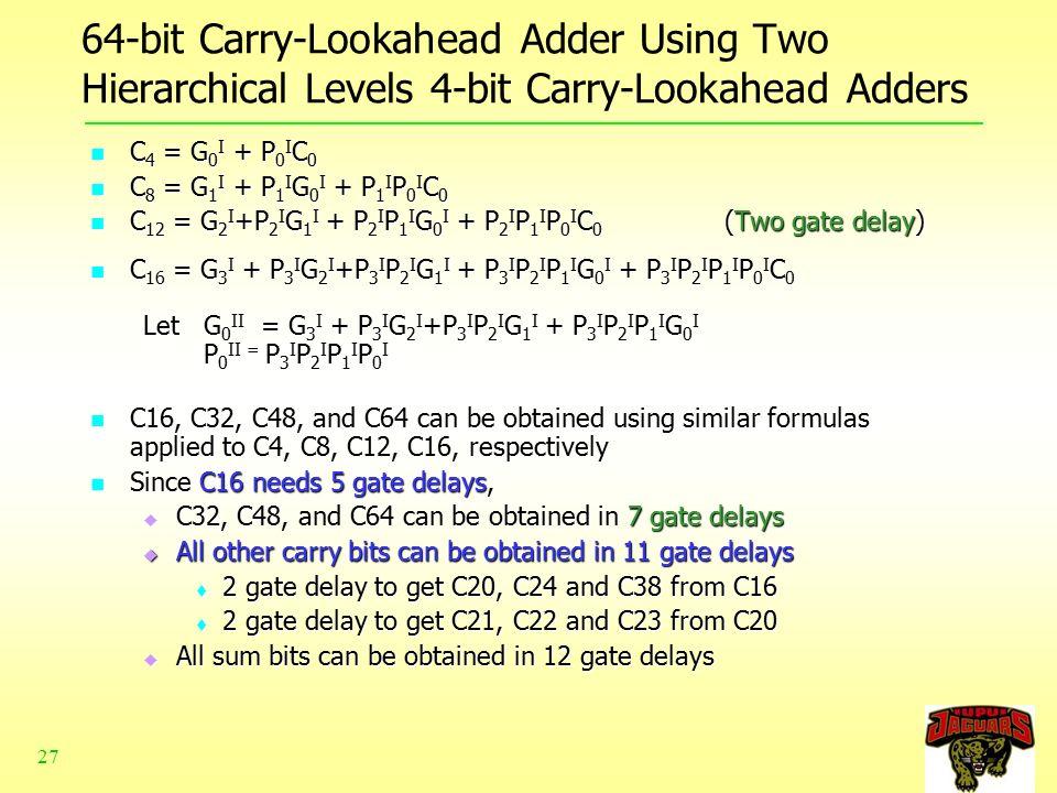 carry look ahead adder pdf