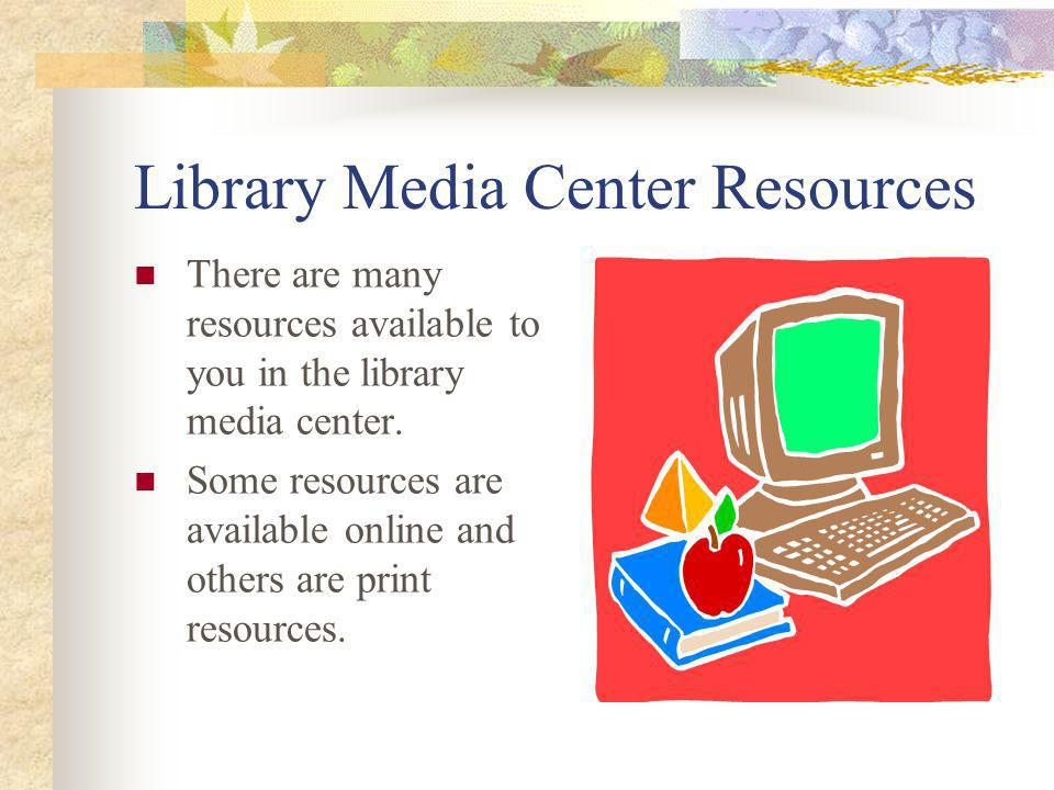 Library Media Center Resources