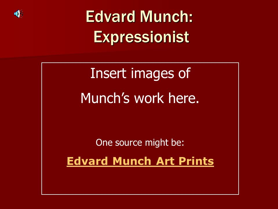 Edvard Munch: Expressionist