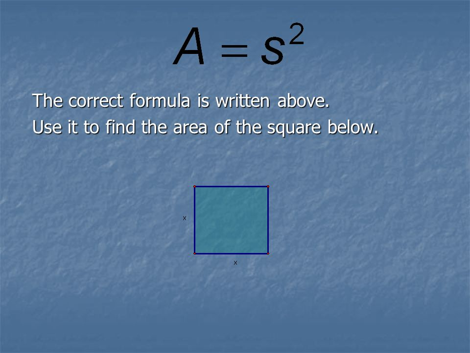 The correct formula is written above.