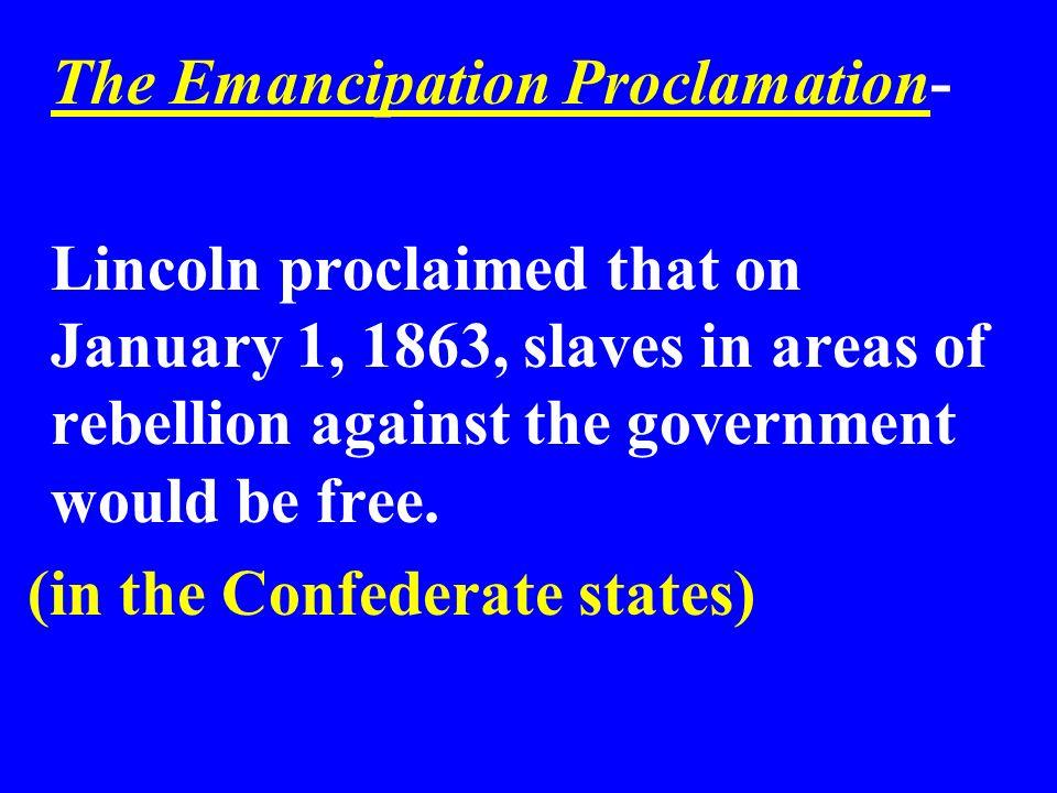 The Emancipation Proclamation-