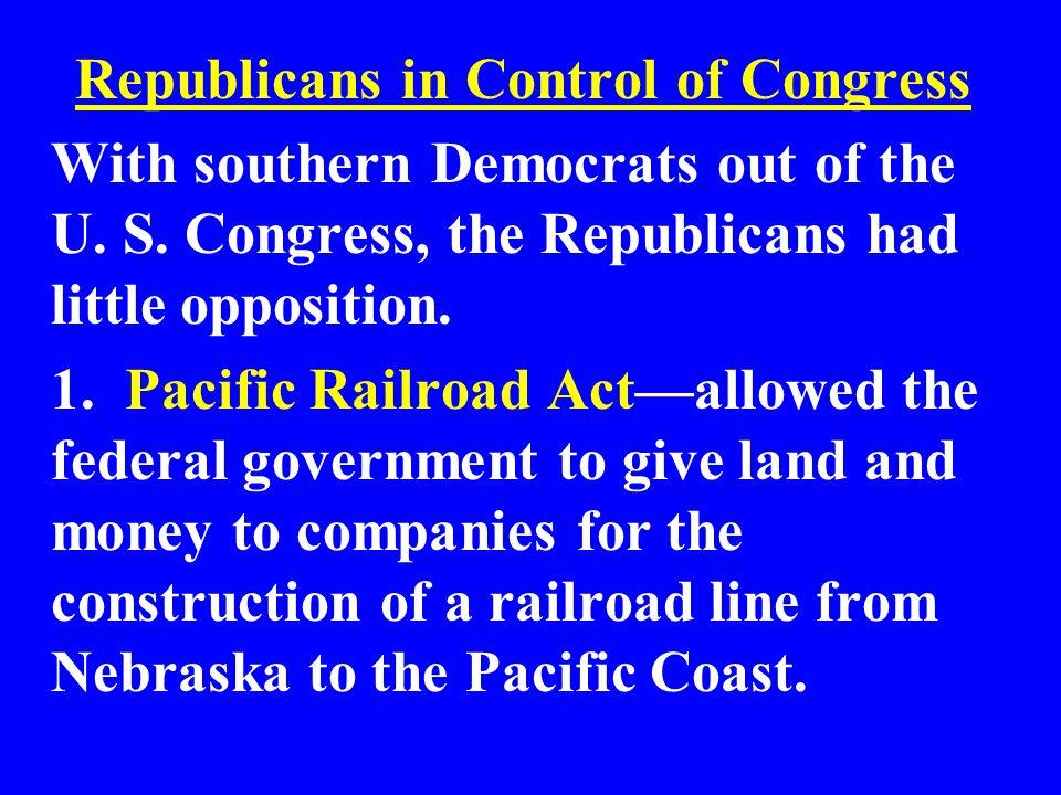 Republicans in Control of Congress