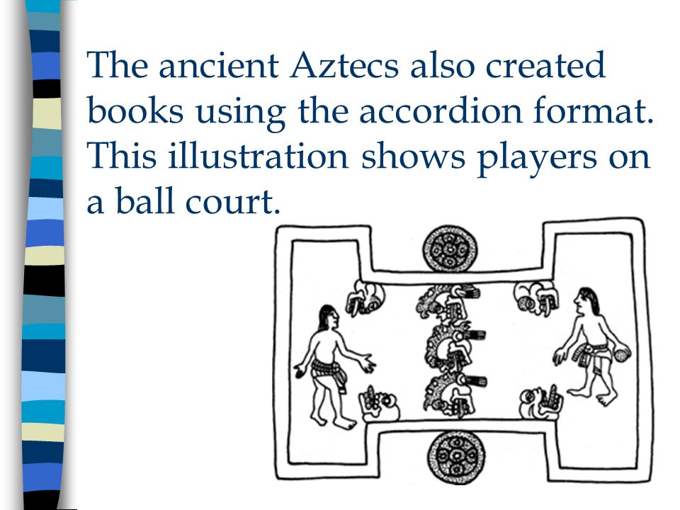 The ancient Aztecs also created books using the accordion format