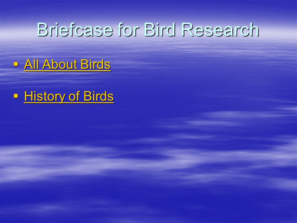Briefcase for Bird Research