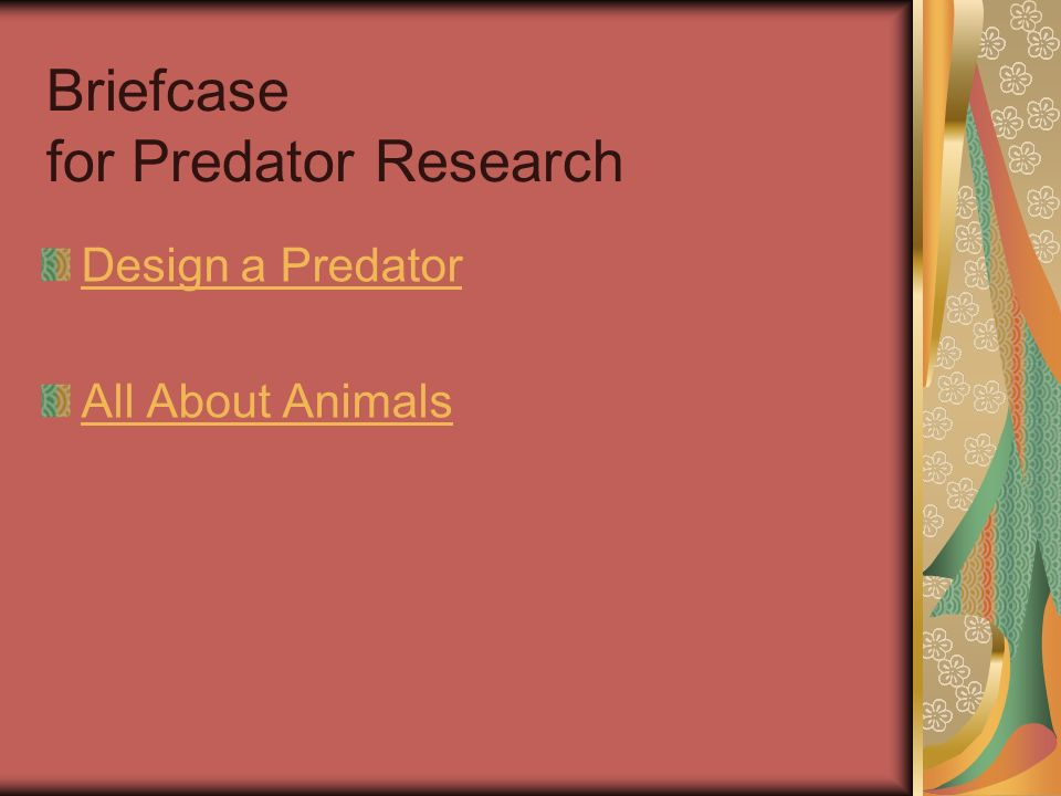 Briefcase for Predator Research