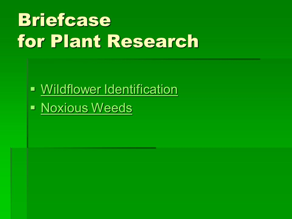 Briefcase for Plant Research