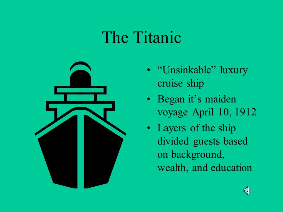 The Titanic Unsinkable luxury cruise ship