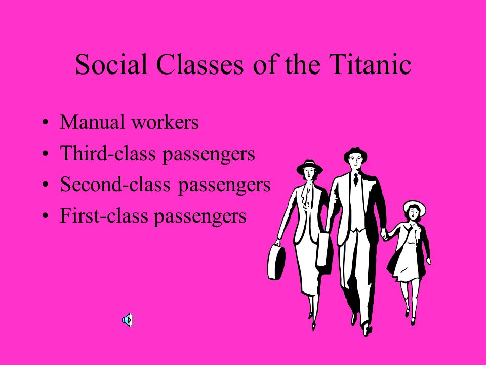 Social Classes of the Titanic