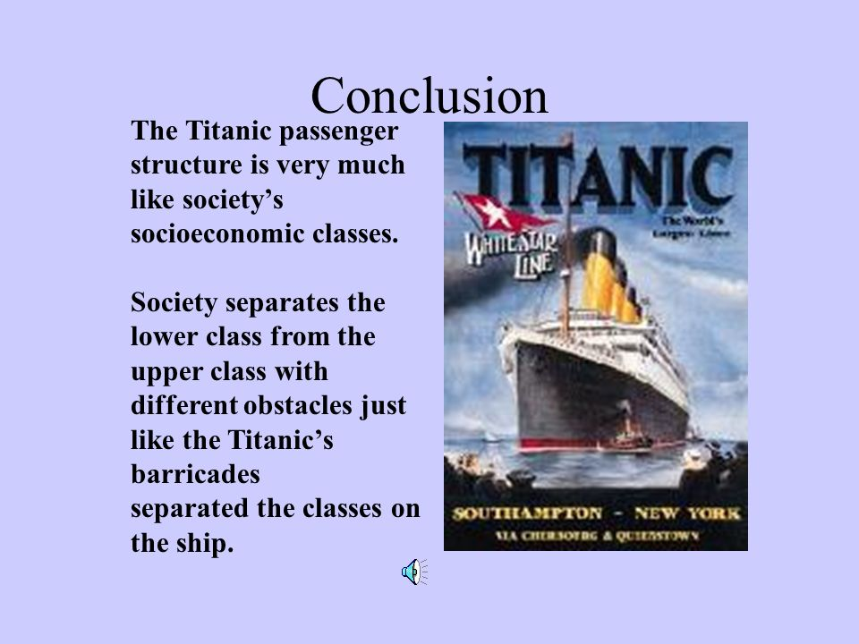 Conclusion The Titanic passenger