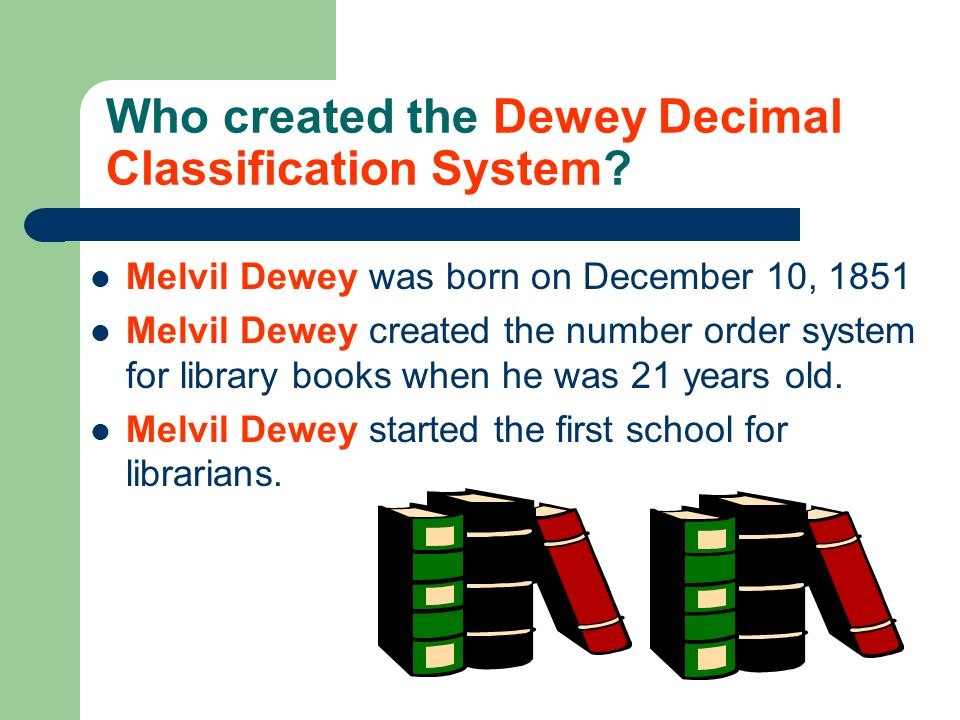 Who created the Dewey Decimal Classification System