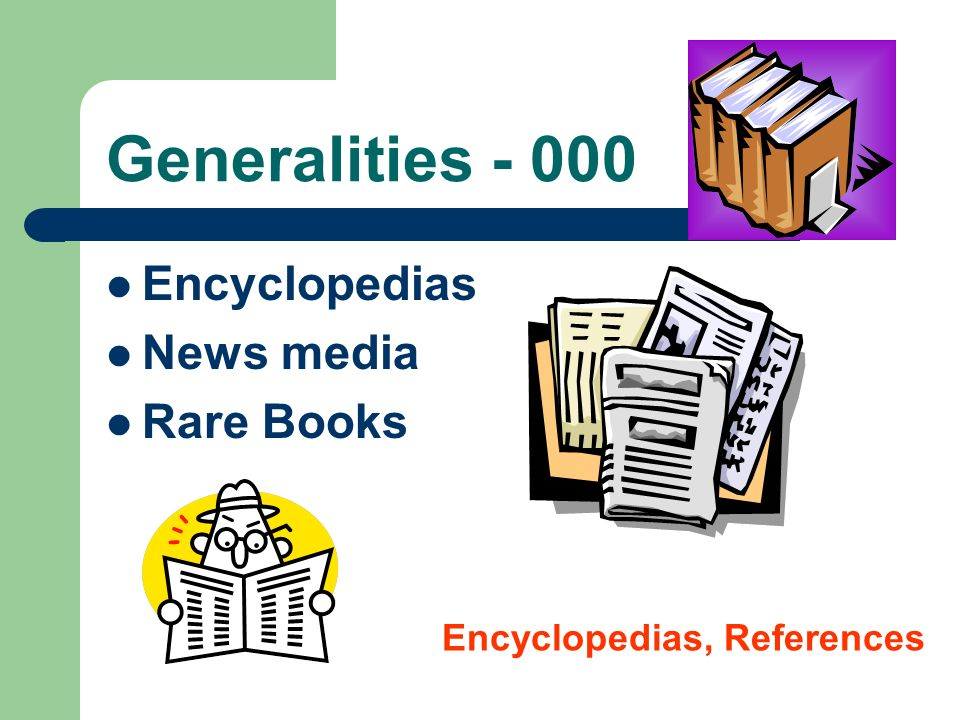 Generalities - 000 Encyclopedias News media Rare Books