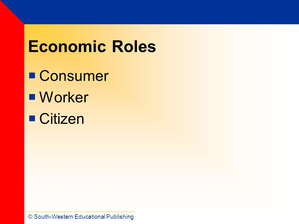 Economic Roles Consumer Worker Citizen