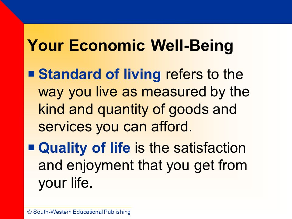 Your Economic Well-Being