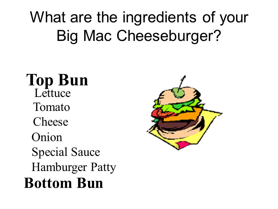 What are the ingredients of your Big Mac Cheeseburger