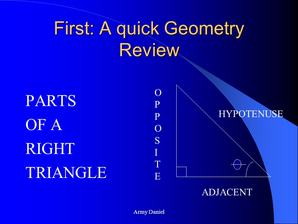 First: A quick Geometry Review