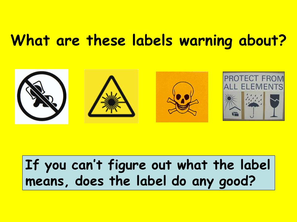 What are these labels warning about