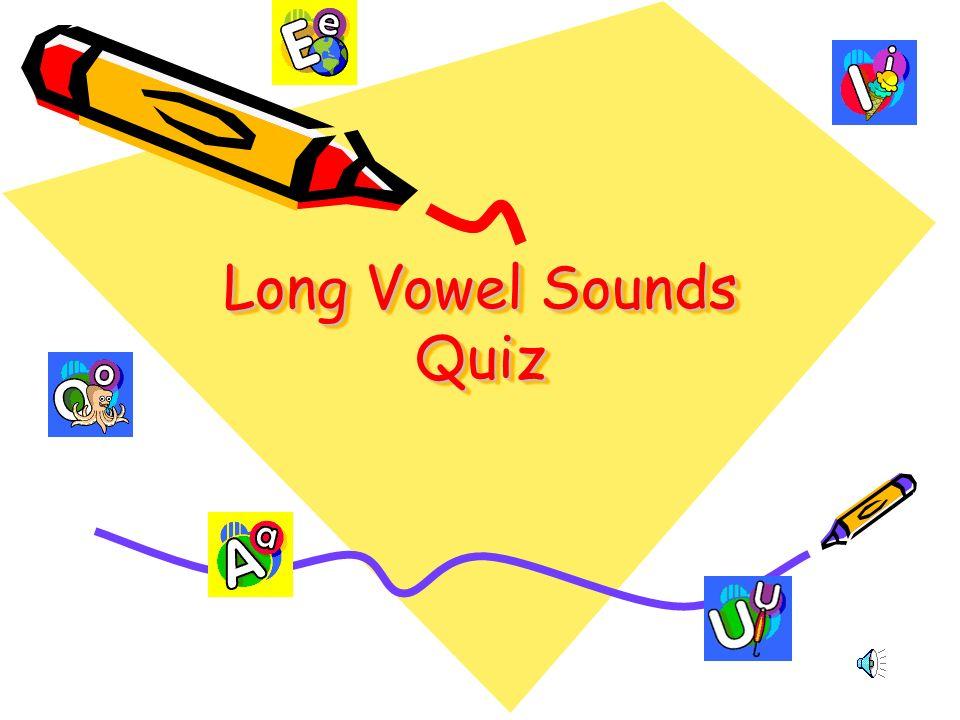 Long Vowel Sounds Quiz