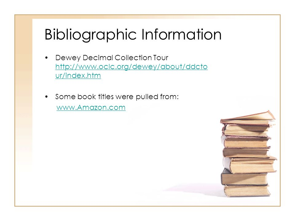 what is bibliographic information Learn what a bibliography is, and when and how to create one  an annotated  bibliography, the bibliographic information is followed by a brief.